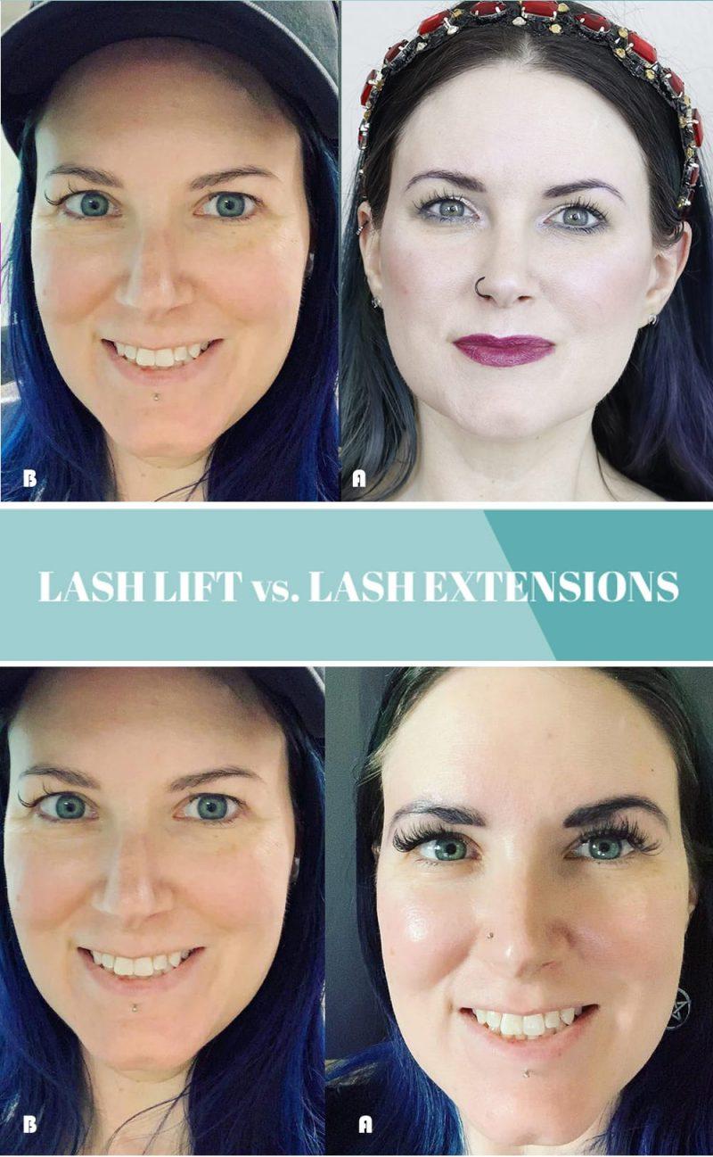 Lash Lift vs. Eyelash Extensions