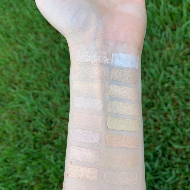 Milk Makeup Flex Concealer in Porcelain swatched on fair skin