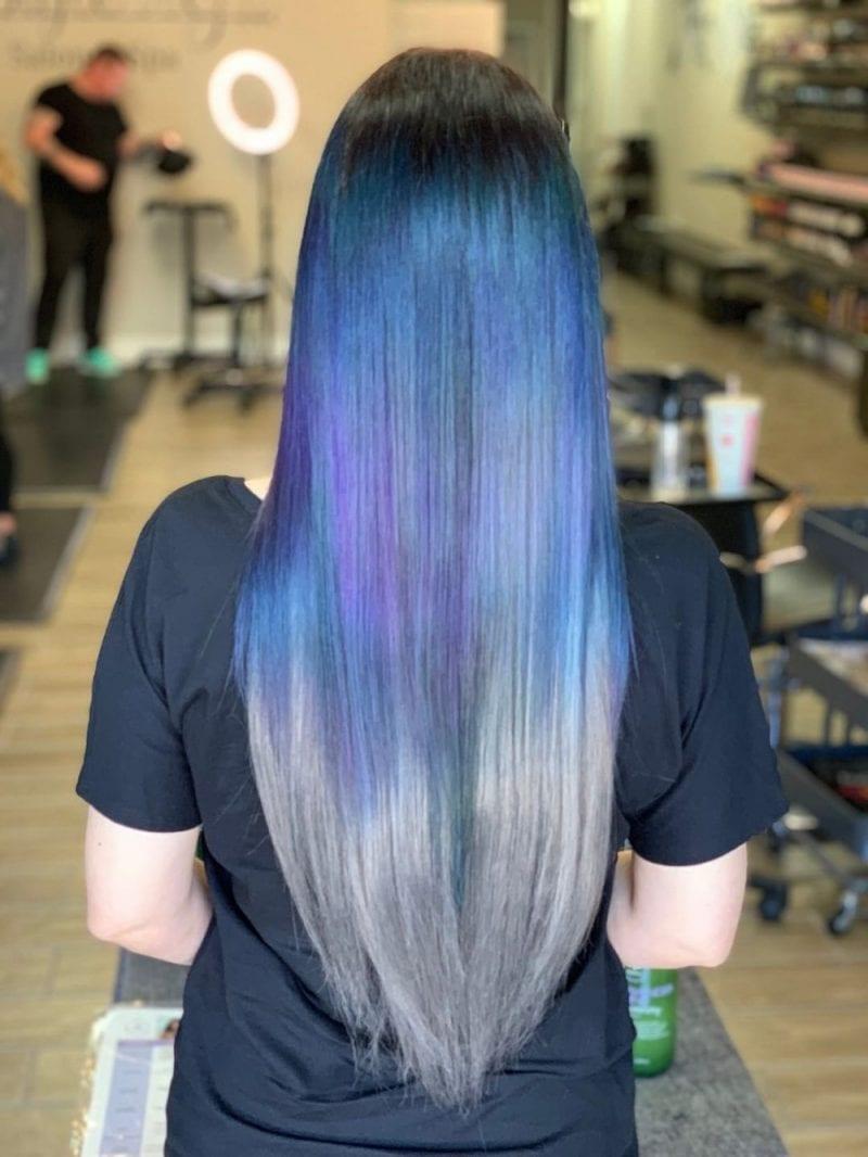 Ravenclaw Blue & Silver Hair