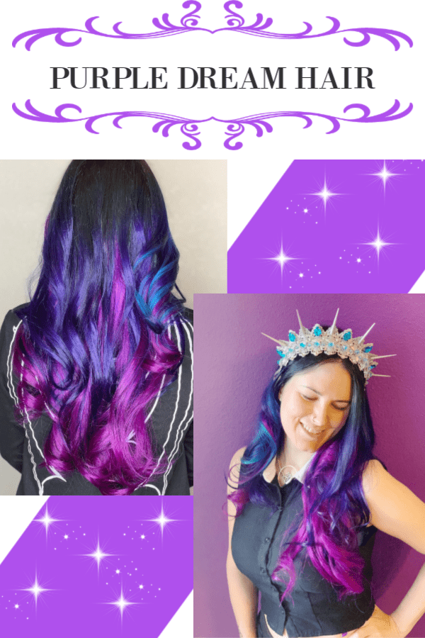 Purple Gothic Dream Hair