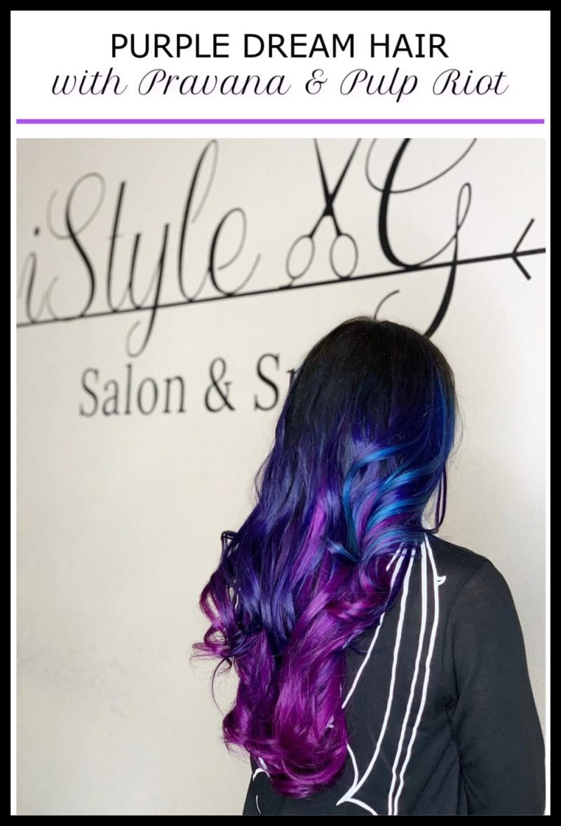 Purple Gothic Dream Hair with Pravana