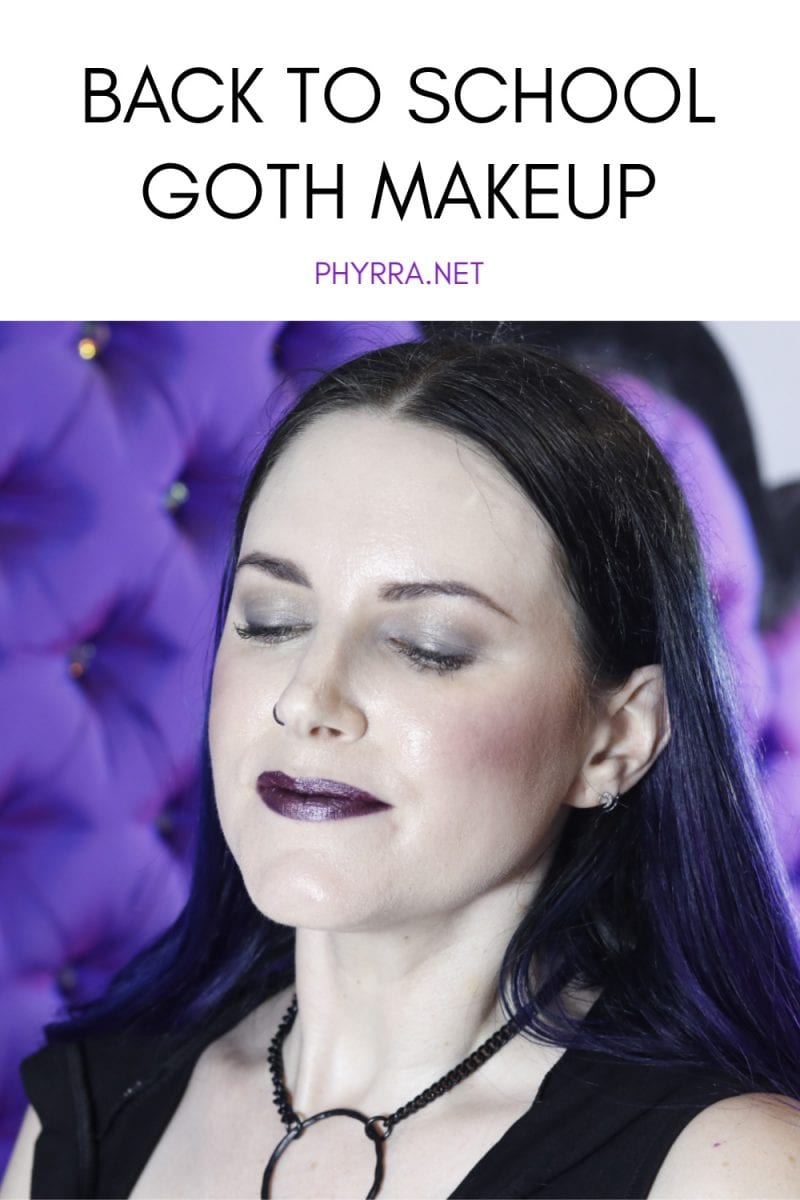 Back to School Goth Makeup Tutorial