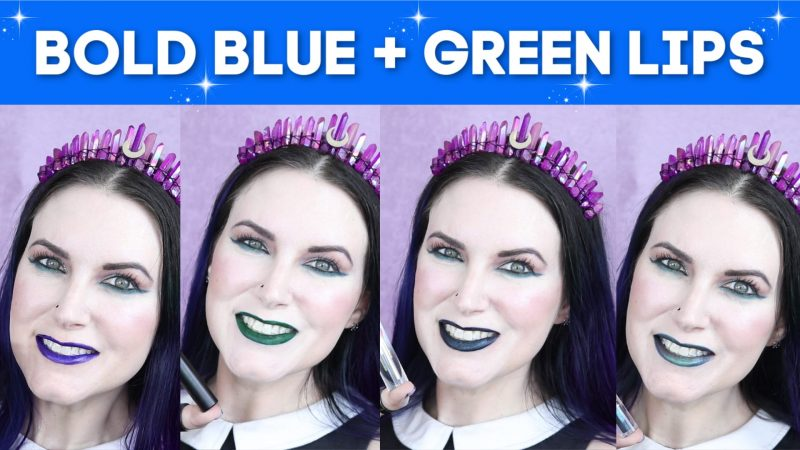 Blue and Green Lipsticks