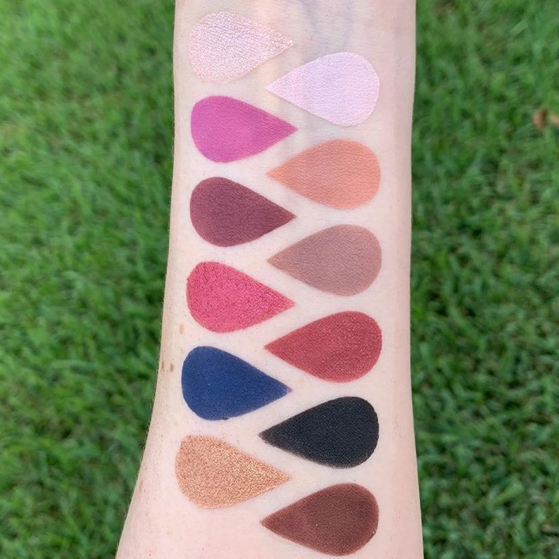 Dominique Cosmetics Berries & Cream Eyeshadow Palette Swatches on Fair Skin