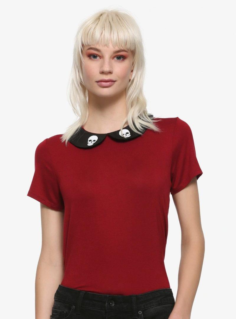 Skull Burgundy Shirt