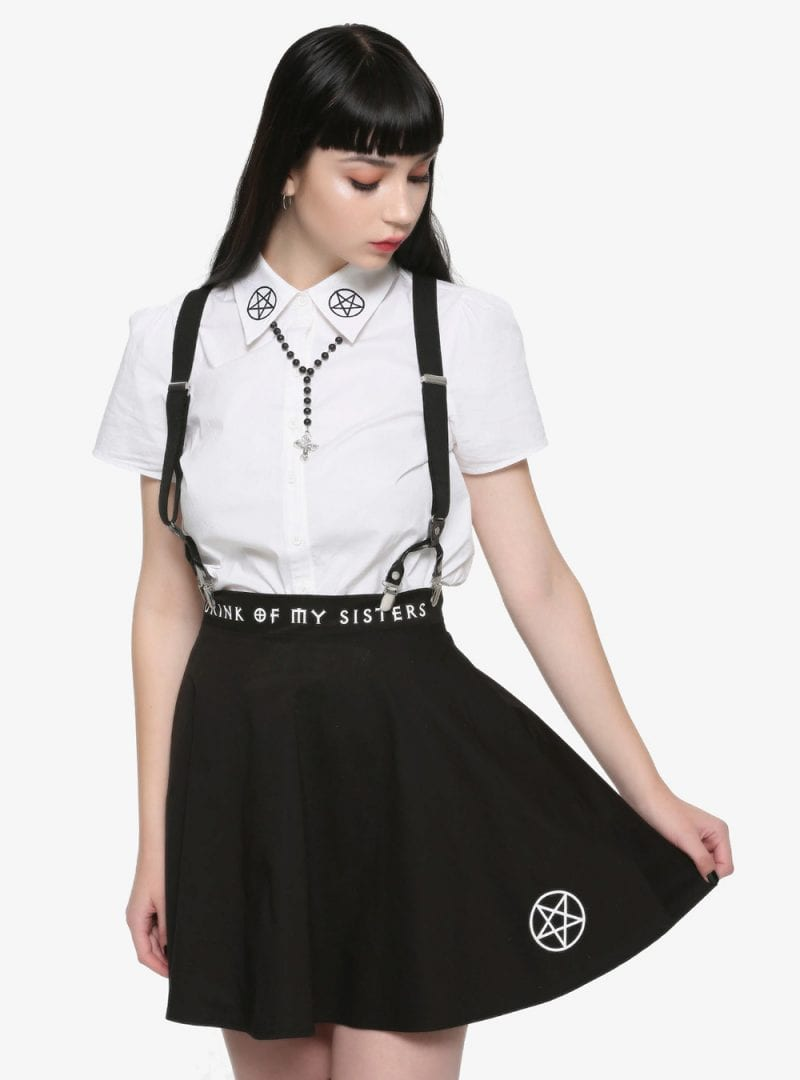 The Craft Pentagram Suspender Skirt