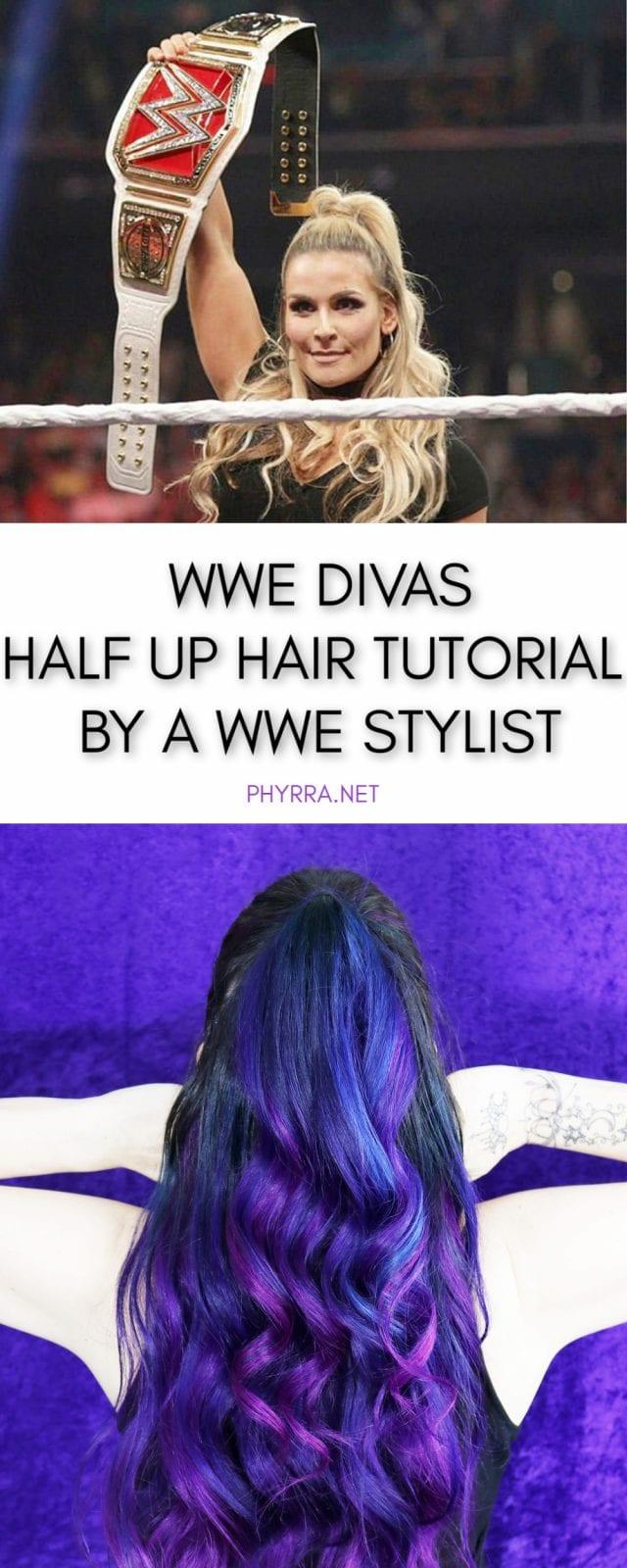 WWE Divas Half Up Half Down Hair Tutorial