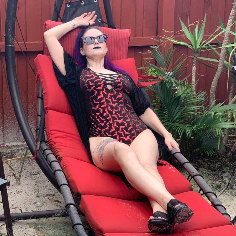Vera's Eye Candy Lace Up Bats Swimsuit