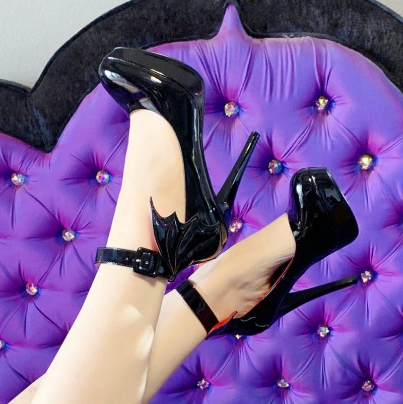 Killstar Cemetary Lane Batwing Heels
