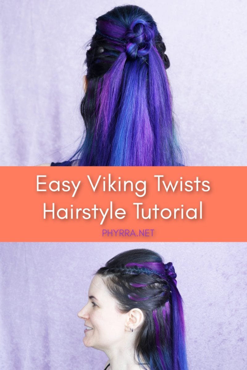 Easy Viking Twists Hairstyle Tutorial