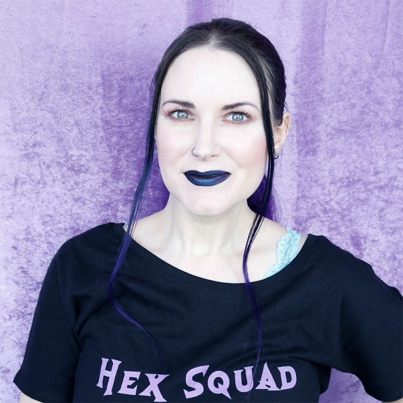 Wearing Phyrra Hex Squad Shirt & Stila Suede Shade Liquid Eye Shadows