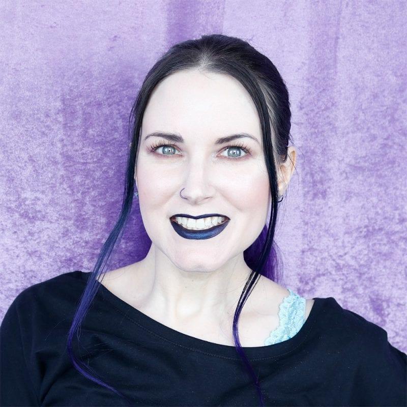 Wearing Black Moon Sorrow Liquid Lipstick & Stila Suede Shade Liquid Eye Shadows