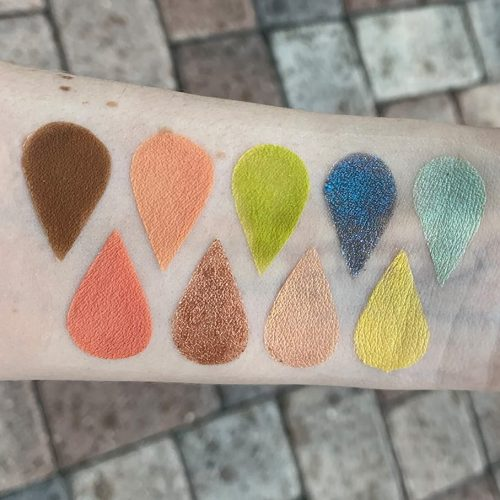 Jouer Tan Lines Eyeshadow Palette Swatches