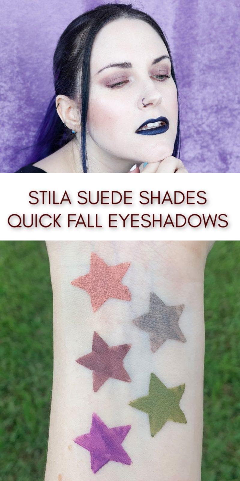 Stila Suede Shade Liquid Eye Shadows are Perfect for Fall