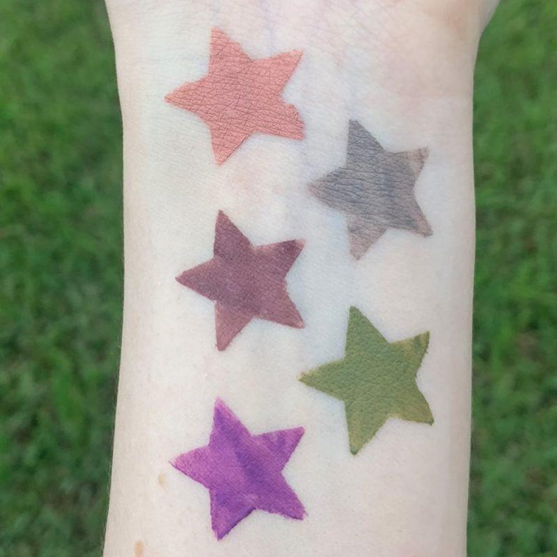 Stila Suede Shade Liquid Eye Shadows Swatches on Pale Skin