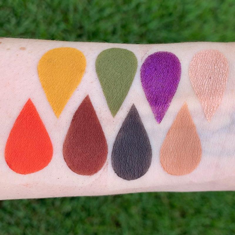Strobe Divinity Palette swatches on Pale Skin