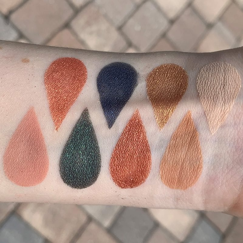 Tarte Fall Feels Palette Swatches on Light Skin