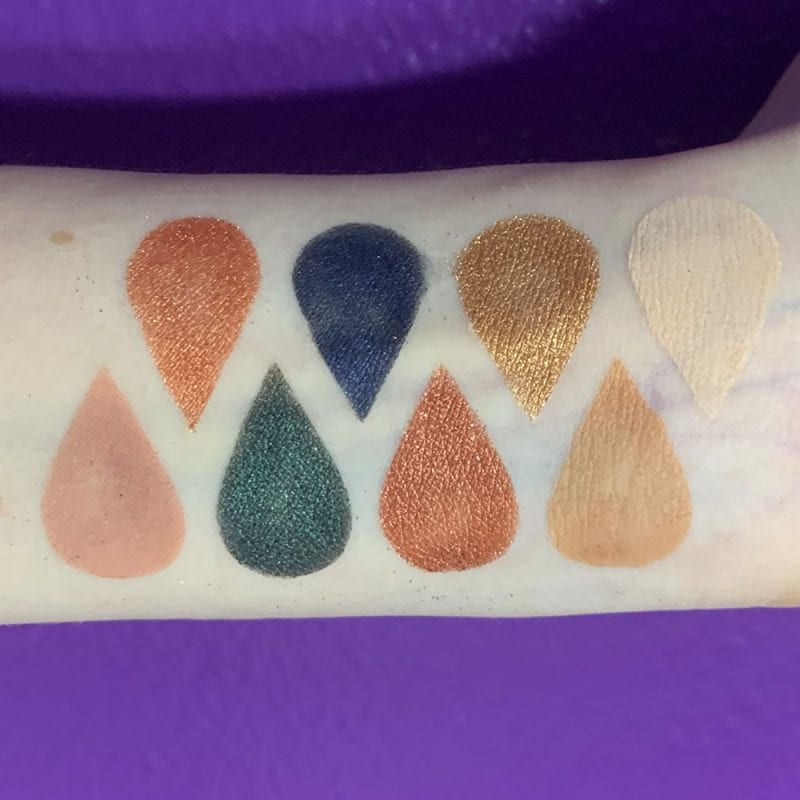 Tarte Fall Feels Palette Swatches on Fair Skin