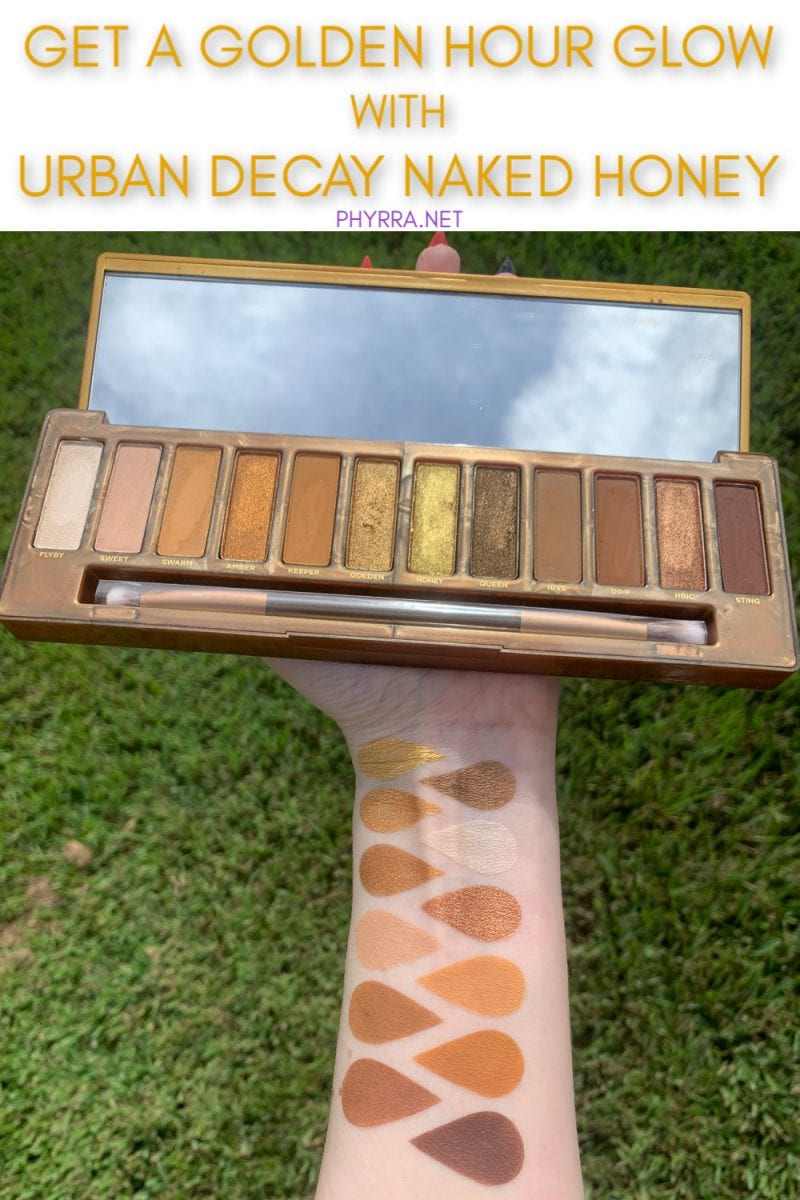Urban Decay Naked Honey Palette Swatches