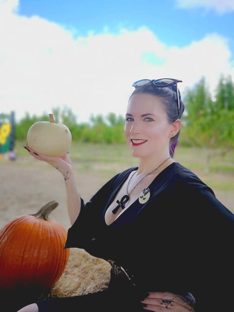 Courtney in the Pumpkin Patch