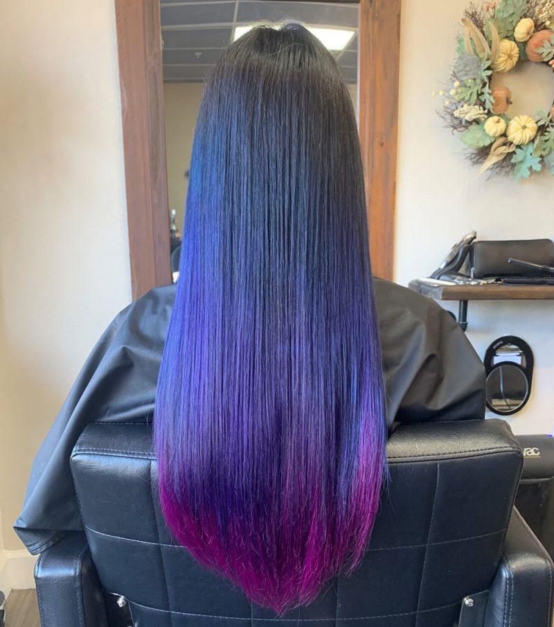 Dark Purple Inky Hair