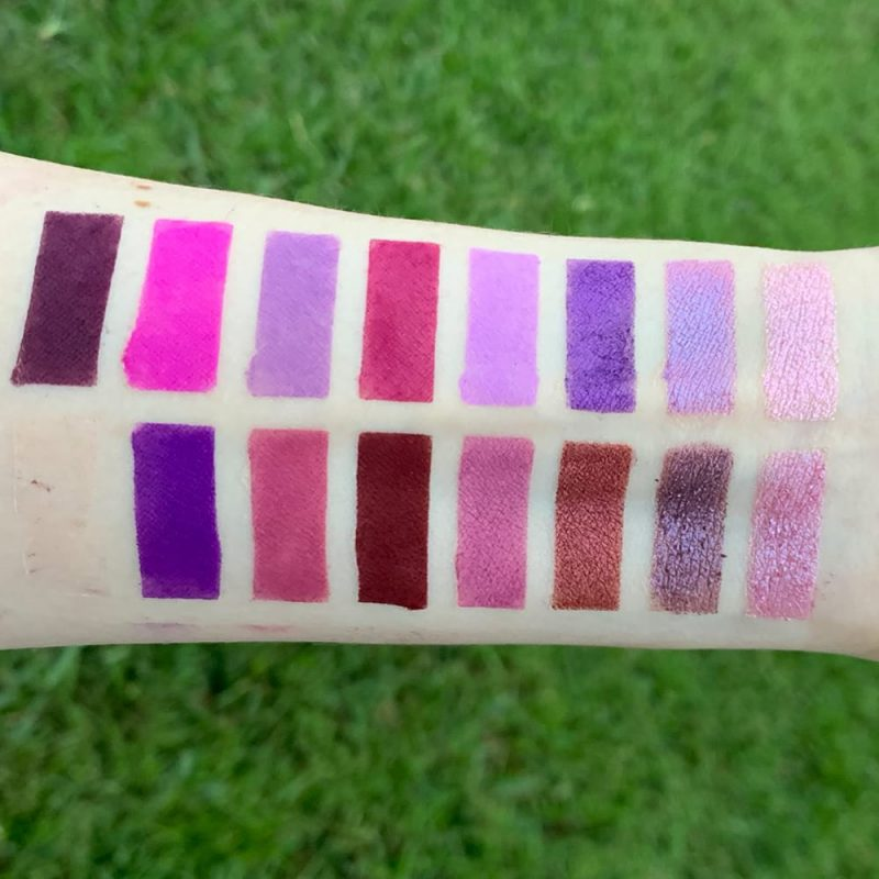 Moonslice Beauty Moon Magic Palette swatches on Pale Skin