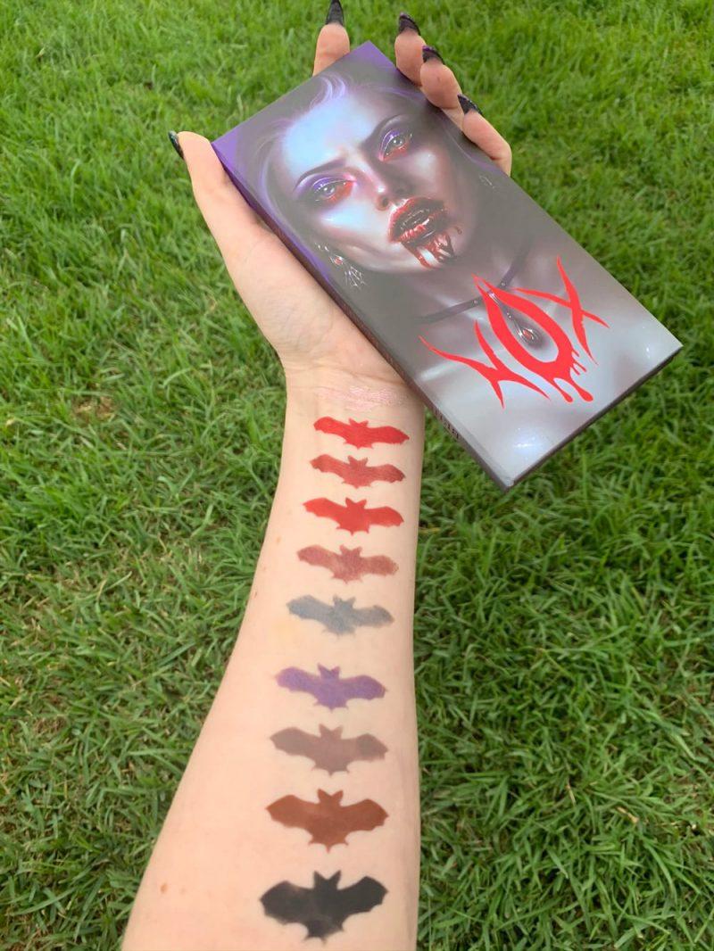 Baby Bat Beauty Nox Palette Swatches