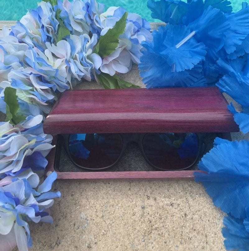 Wooden Sunglasses Case