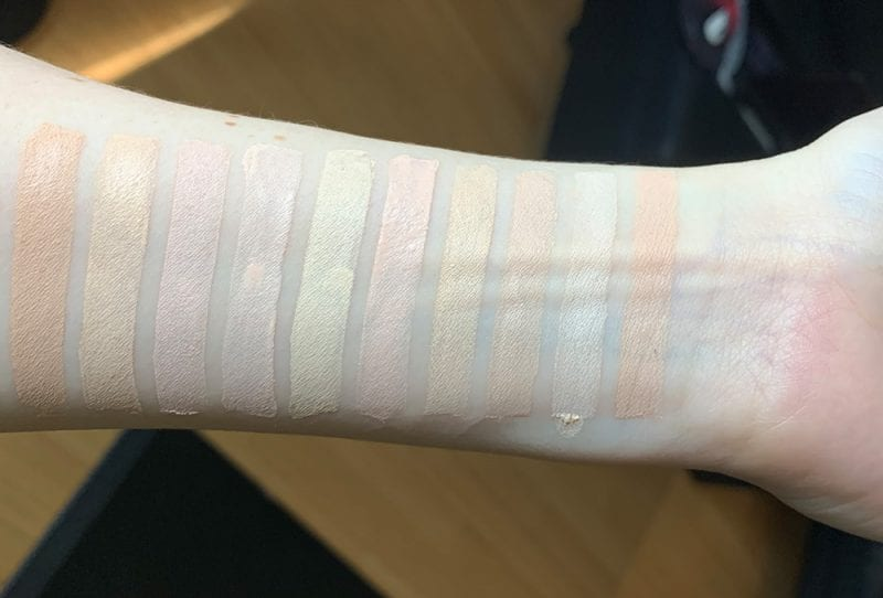 Drugstore Foundation Swatches on Pale Skin