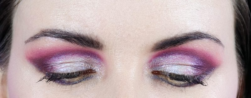 Beautiful Colorful Duochrome Makeup on Hooded Eyes