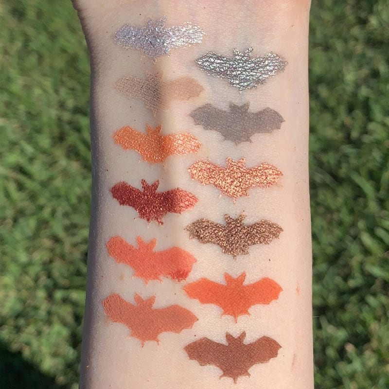 Juvia's Place Nubian 3 Coral Palette swatches on fair skin