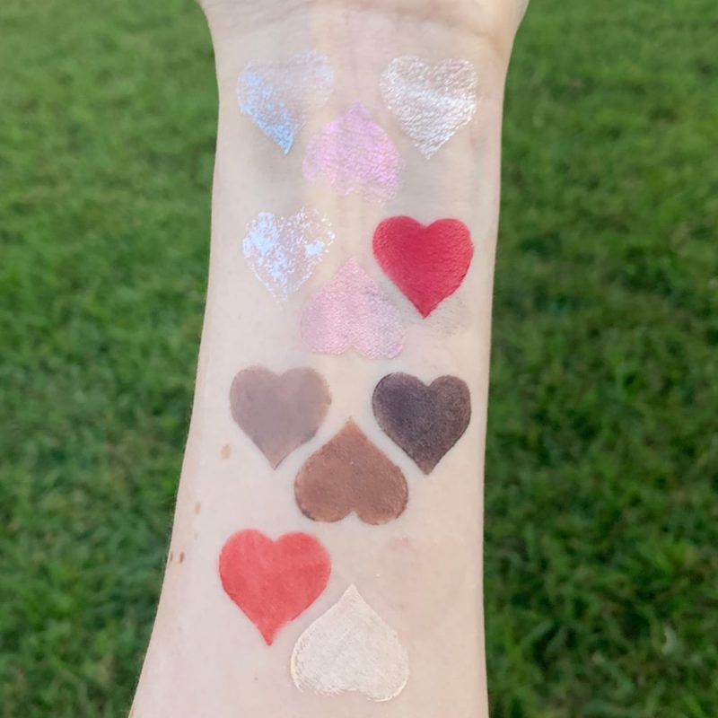 Rituel de Fille Inner Glow Creme Pigments swatched on pale skin
