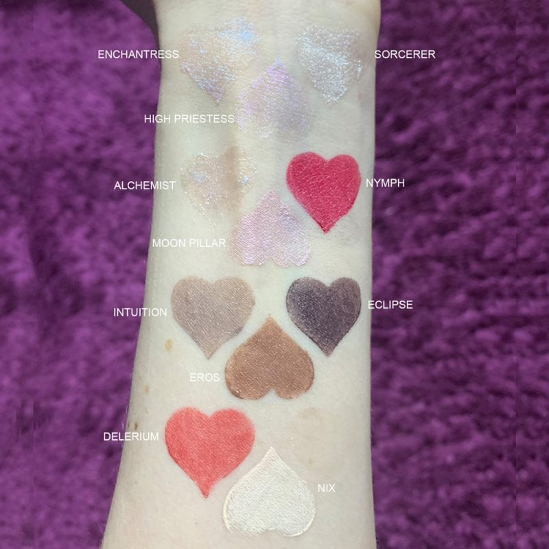 Rituel de Fille Inner Glow Creme Pigments swatched on fair skin