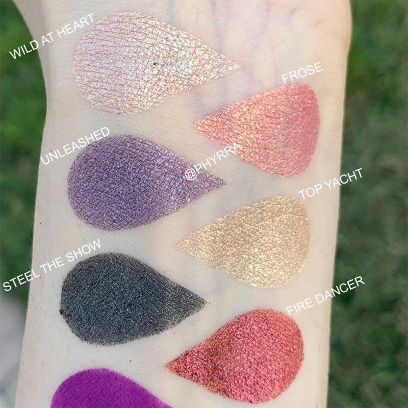 Tarte Chrome Paint Shadow Pots swatches on Fair Skin