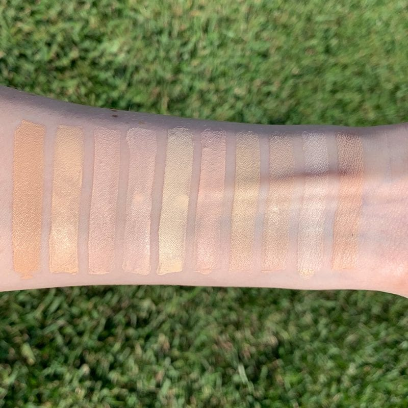 Drugstore Foundation Swatches on Fair Skin