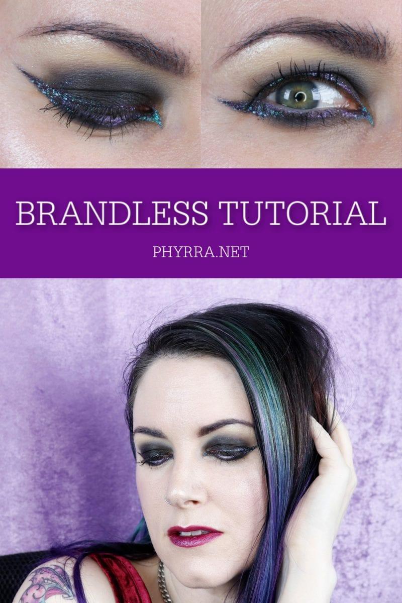 Brandless Makeup Tutorial #hoodedeyes #goth #crueltyfree #duochrome