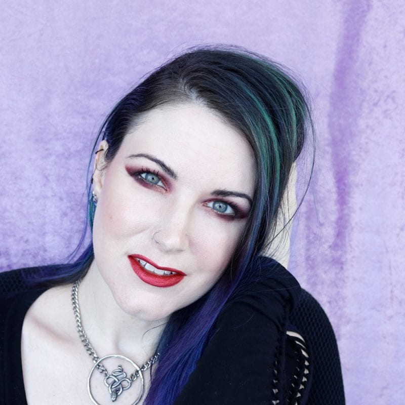 Blue-toned Red Makeup on Pale Skin