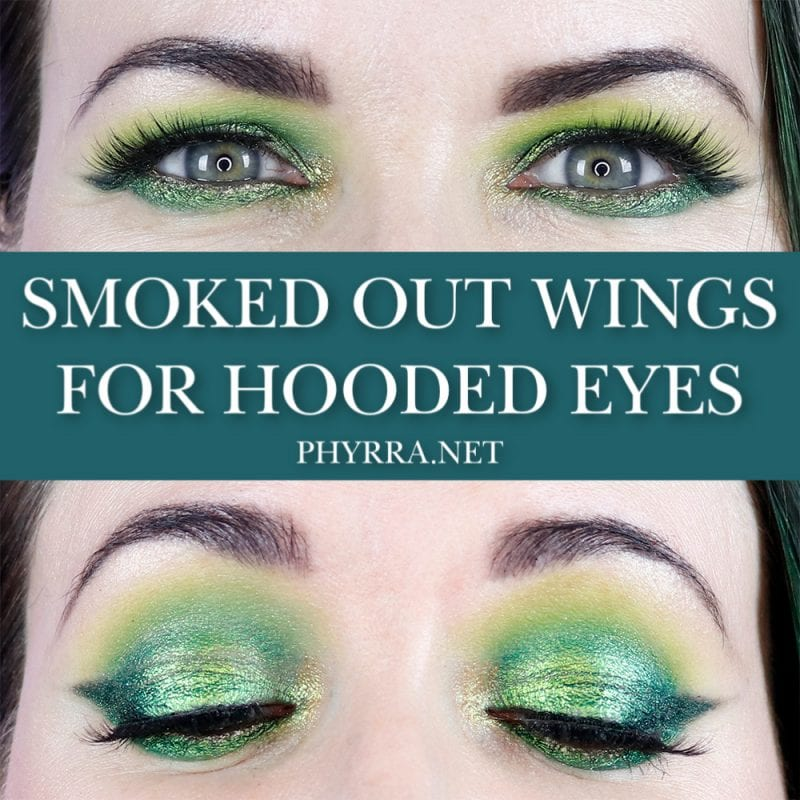 Smoked Out Wings for Hooded Eyes