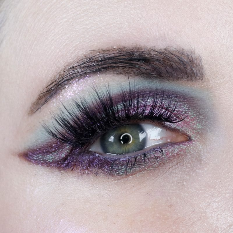 Black Moon Immortal and Abracadabra with Fyrinnae Alpenglow and Milani Peacocking with Makeup Geek Ava lashes