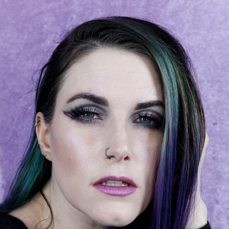 Pink, Purple, Blue Makeup Look