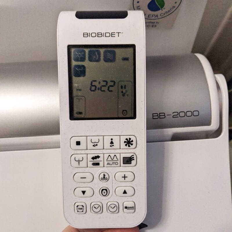 BioBidet Toilet Seat Attachment Remote