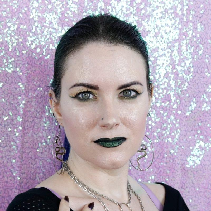 Kristen Leigh Devious glimmer gel with Melt Space Queen