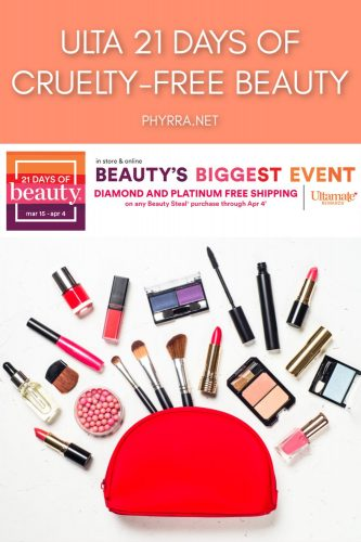 Ulta 21 Days of Cruelty-Free Beauty 2020