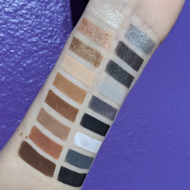 Colour Pop Going Coconuts and Blowin' Smoke Palettes Swatches