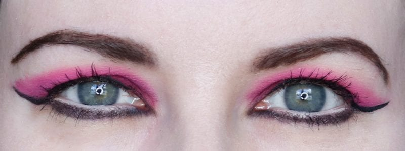 World Goth Day Makeup Look - Nabla Wild Berry, Sugarpill Melody, Viseart Hot Pink
