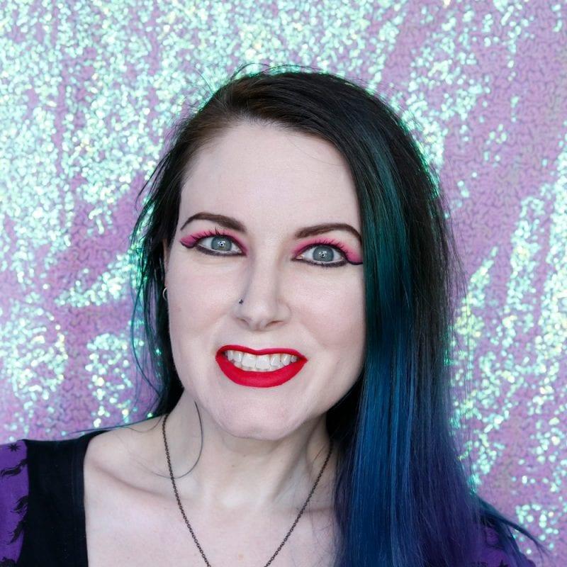 World Goth Day Makeup Look - Red Lips Melt Bellastona