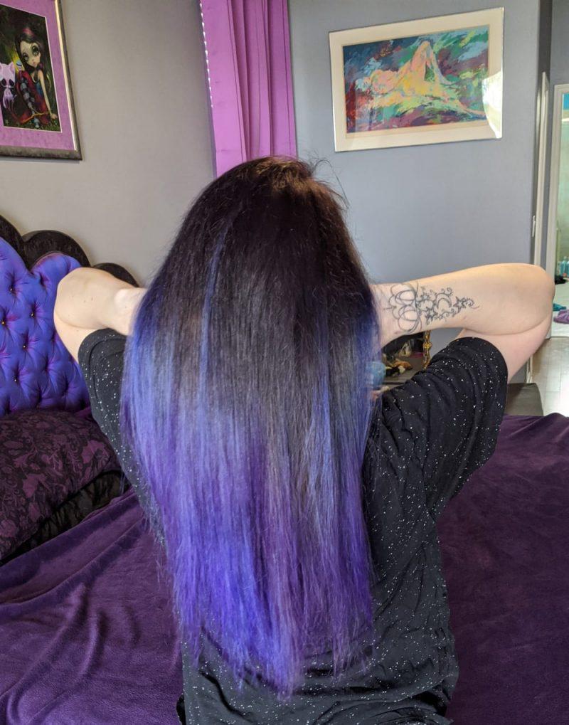 Midnight Purple Hair