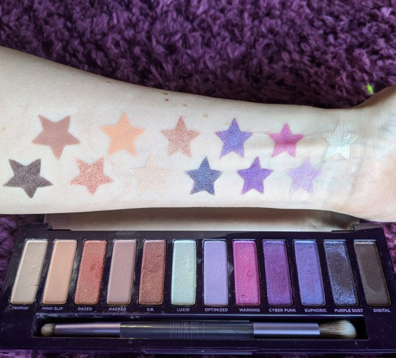 Urban Decay Naked Ultraviolet Palette Swatches