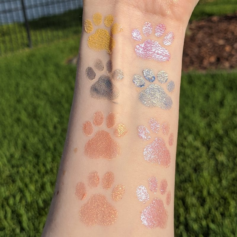 Nomad Cosmetics Studio 54 Discoshadow and Discolighters Collection Swatches