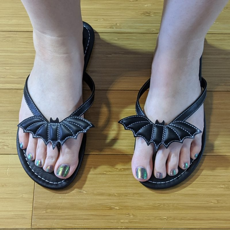 Strange Cvlt Betty Black Bat Sandals